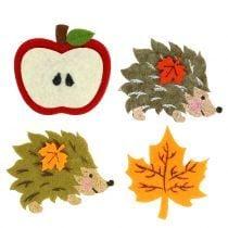 Owl & hedgehog figurines