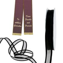 Mourning ribbon and funeral ribbon