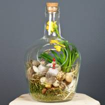 Glass bottle decorative container with cork Ø19cm H30cm