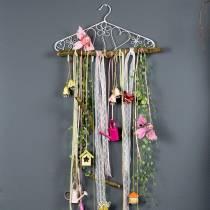 Decorative hanger with hooks Vintage look 40cmx23cm