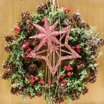 Cone wreath snowed Ø27cm