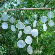Maritime decoration hanger shell wind chimes on driftwood branch L65cm