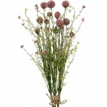 Artificial Craspedia Violet Drumstick Artificial Flowers 3pcs