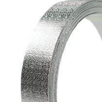 Aluminum ribbon flat wire silver matt 20mm 5m