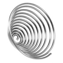 Wire worm metal worm silver 2mm 120cm 2pcs