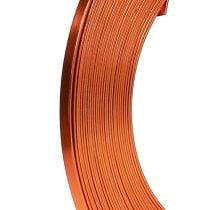 Aluminum flat wire orange 5mm 10m