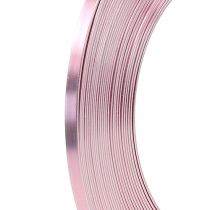 Aluminum flat wire pink 5mm 10m
