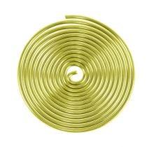 Aluminum snail Gold 2mm 120cm