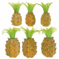 Artificial mini pineapple H6.5cm - 8cm 6pcs