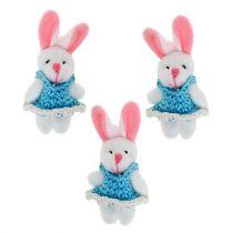 Pendant Bunny 5,5cm Blue 9pcs
