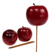 Artificial apple red Ø7.5cm 6pcs