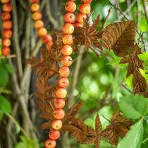 Apple garland made of 55 mini apples yellow-orange 113cm