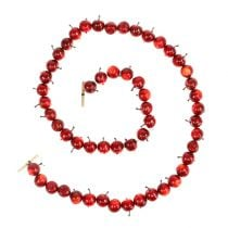 Apple garland red L 110cm