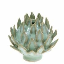 Decorative vase art shock ceramic green Ø9.5cm H9cm
