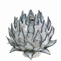 Decorative vase art shock ceramic blue, white Ø9.5cm H9cm
