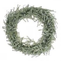 Decorative asparagus wreath artificial asparagus white, gray Ø32cm