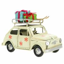 Christmas car with packages White 11x5x7cm