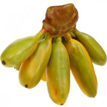 Artificial banana bunch, decorative fruit, baby bananas L7–9cm