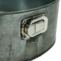 Planter, decorative baking pan, springform pan for planting, metal decoration Ø24cm H7.5cm