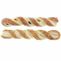 Sesame stick and poppy seed stick Artificial food dummy Assorted 25cm 2pcs