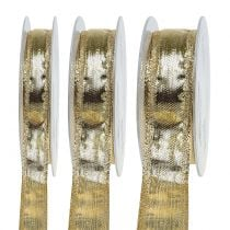 Band with wire edge Gold 25m