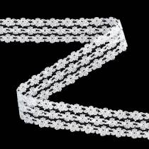 Lace ribbon white 20mm 20m