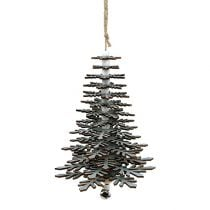 Hanging Decoration Christmas Tree with bell Silver 40cm