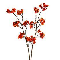 Berry branch orange L50cm 4pcs