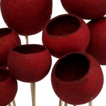 Bell Cup Mix on a stick dark red 15pcs