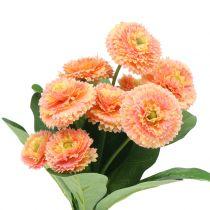 Artificial daisies peach 24cm 2pcs