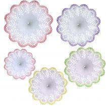 Paper lace flower bouquet holders Batik Mix 25pcs