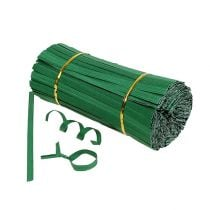 Binding strips green short 20cm 2-wire 1000pcs