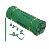 Binding strips medium green 25cm 2-wire 1000pcs