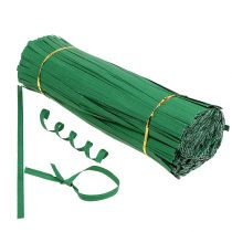 Binding strips long green 30cm 2-wire 1000pcs