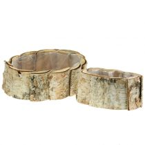 Planter oval birch 2pcs