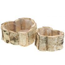 Planter birch heart 2pcs