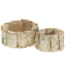 Planter round birch 2pcs