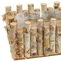 Planter box birch 36cm x 14cm