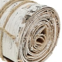 Birch bark roll white washed 10cm x 2.5m