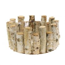 Planting bowl made of birch branches H14cm Ø24cm