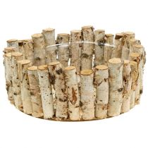 Planting bowl made of birch branches Ø33cm H13cm