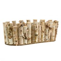 Planter oval birch 30,5cm x 13cm