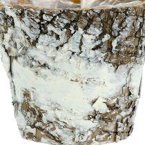 Birch pot mini white Ø7cm H7cm
