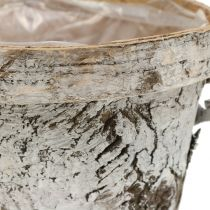 Birkentopf with edge medium Ø16cm H13cm white