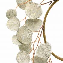 Wreath of leaves artificial champagne round leaves Ø55cm