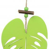 Leaf for hanging light green 14.5cm