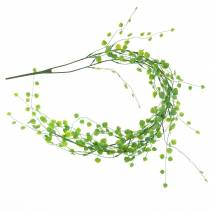 Leaf garland 87cm green artificial 2-strand