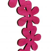 Flower wreath wood in pink Ø35cm 1pc