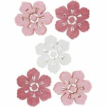 Scattered cherry blossoms, spring flowers, table decorations, wooden flowers to scatter 144St