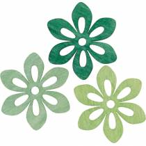 Scatter flowers green, spring decoration, wood blossoms for scattering, table decoration 72pcs